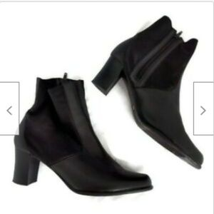 Cloud Walkers black leather ankle boots size 12 W